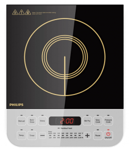 Philips Viva Collection HD4938/01 2100-Watt Induction Cooktop with Sensor Touch