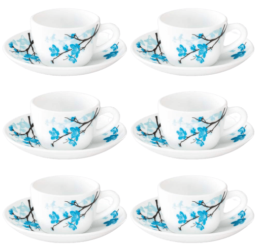 Larah by BOROSIL Opalware Cup And Saucer