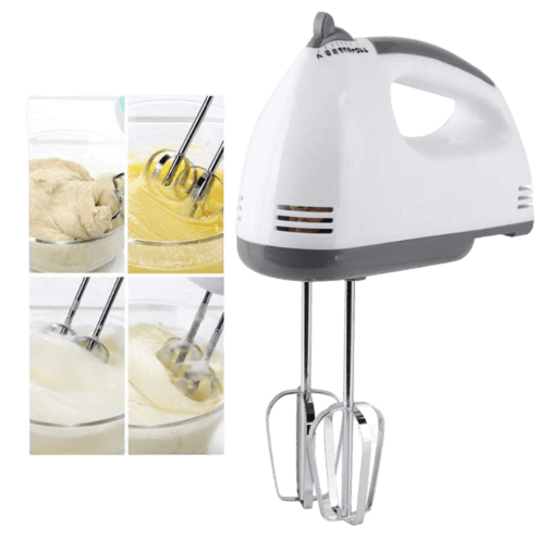 ZOXBER Speed Hand Mixer with 4 Pieces Stainless Blender,Food Blender, Bitter for Cake_Cream Mix