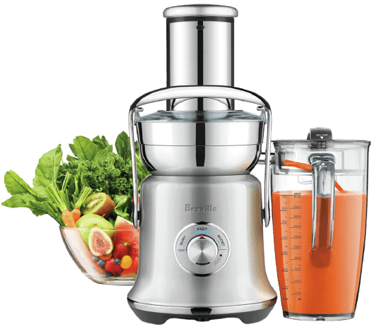 Breville BJE830SIL Juice Fountain Cold XL Centrifugal Juicer, Silver