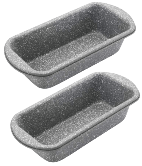 Femora Baking Carbon Steel Stone Ware Non-Stick Coated Baking Loaf Pan (Small) for Breads