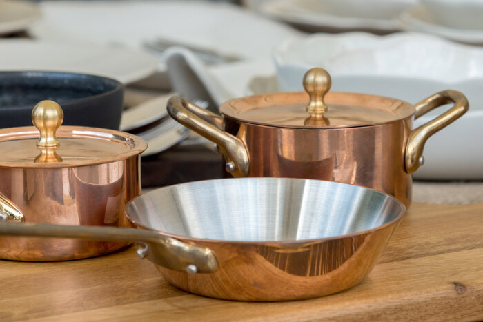 Copper plates for eating