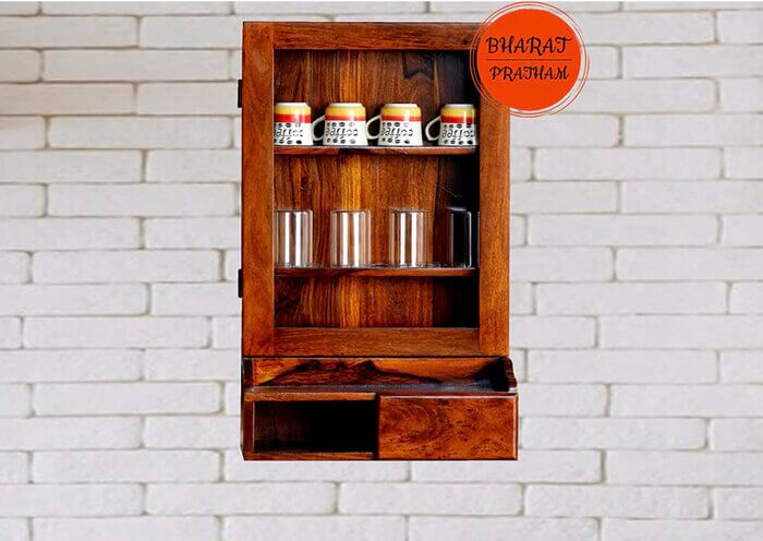 Bharat Pratham-Wooden Kitchen Shelf | Kitchen Wall Shelves and Racks