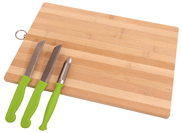 Perpetual Wooden Bamboo Cutting Board, Chopping Board for Kitchen with Handle Slicing Board