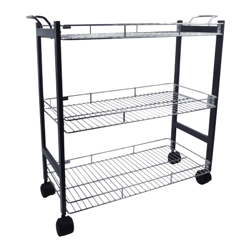 Sterling 3- tier kitchen trolley with wheels, the standard for kitchen, stainless steel